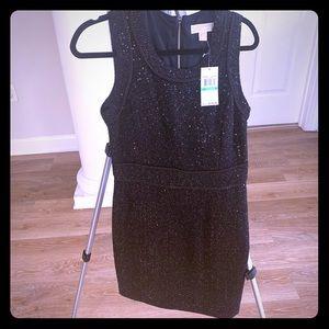 Michael Kors black silver mid thigh holiday dress